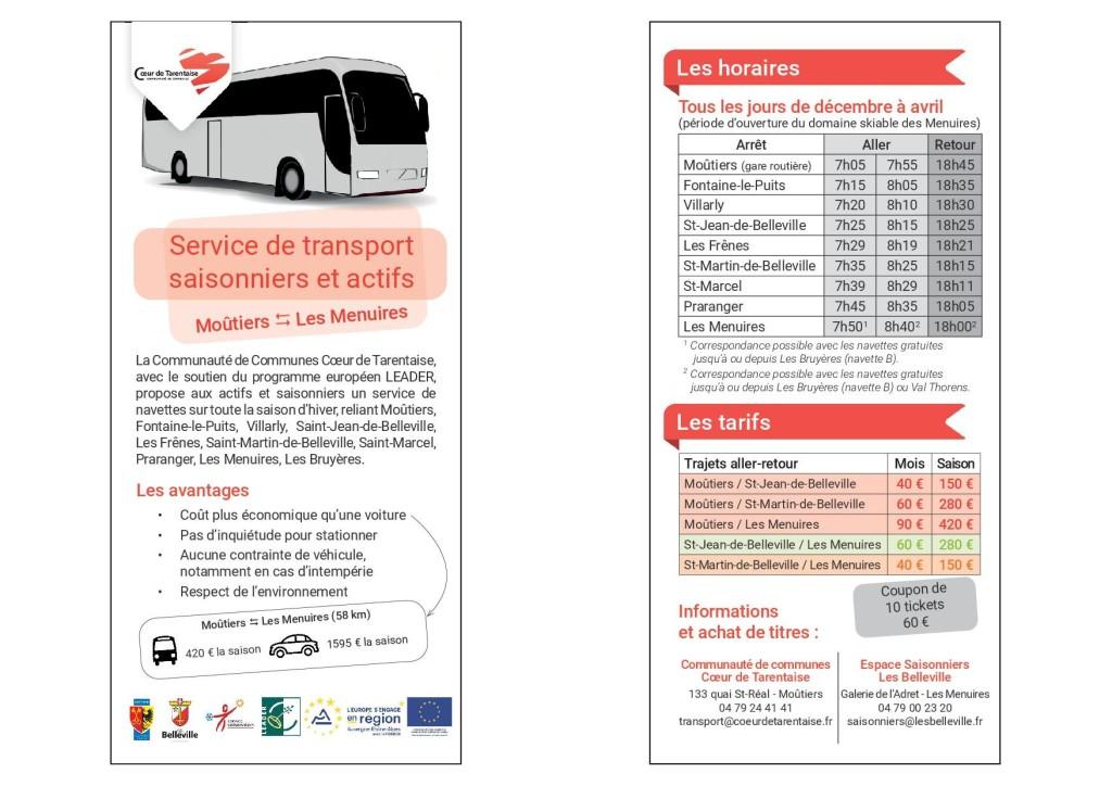 Transport saisonnier 2019
