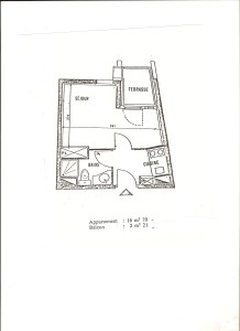 plan appartement Ménuires